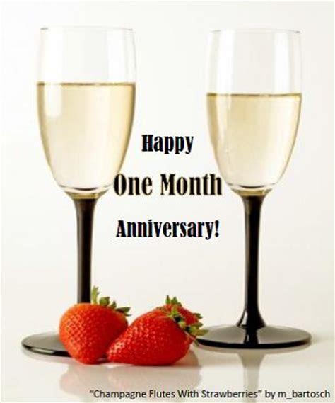 Happy One Month Anniversary. Free Milestones eCards