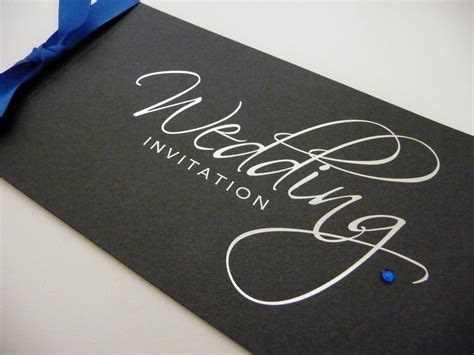 Foiled Silver & Black Foiled Cheque Book Wedding
