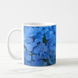 Bright Blue Hydrangea Coffee Mugs