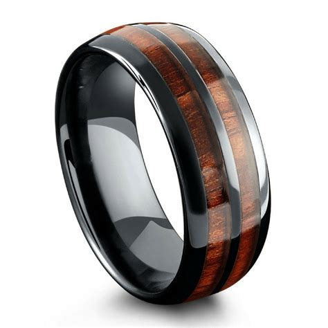 Barrel Ceramic Koa Wood Ring ? Northern Royal, LLC