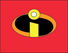 Plantilla de emblema de los Increíbles.