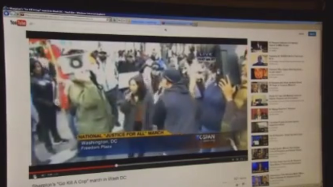 A screen grab from the Fox 45 story.