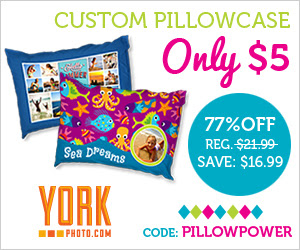 Custom Photo Pillowcase – Just $5 – Save $16.99!