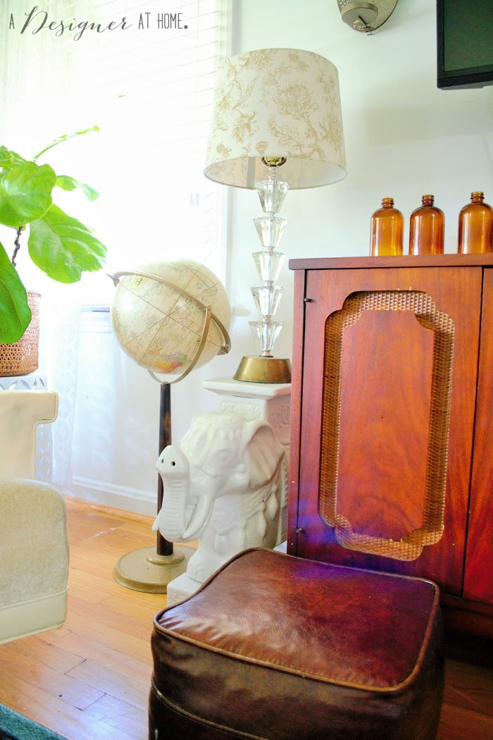 white elephant plant stand stacked lucite lamp, be still my heart!
