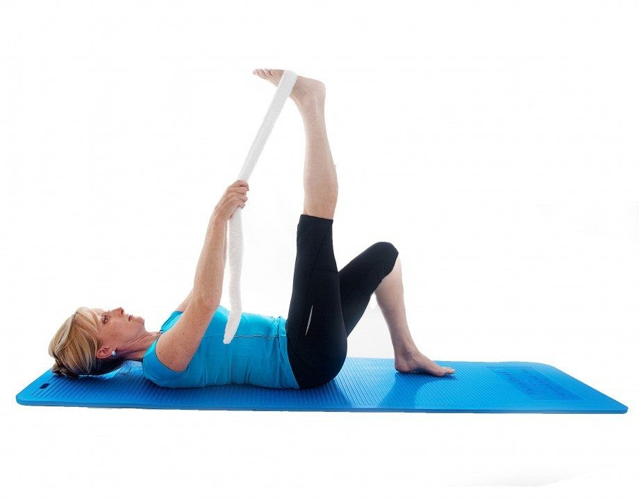Lying down hamstring stretch