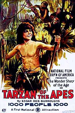 Resultado de imagem para tarzan of the apes 1918 poster