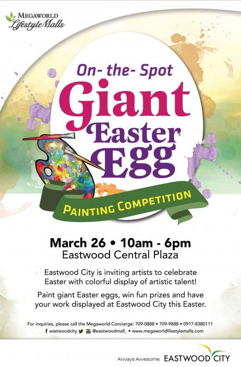 Join Eastwood Citys On The Spot Giant Easter Egg Painting