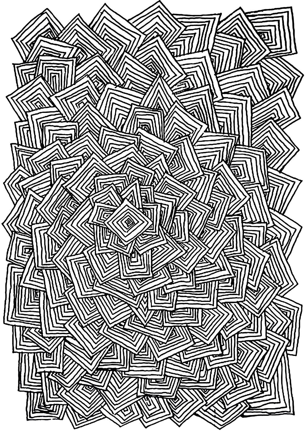 Relax squares - Anti stress Adult Coloring Pages - Page 2/
