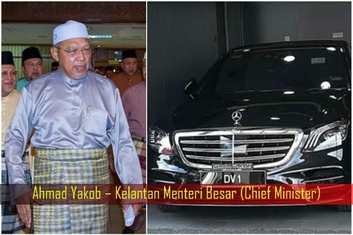 Ahmad Yakob – Kelantan Menteri Besar Chief Minister - Mercedes Benz S450L AMG
