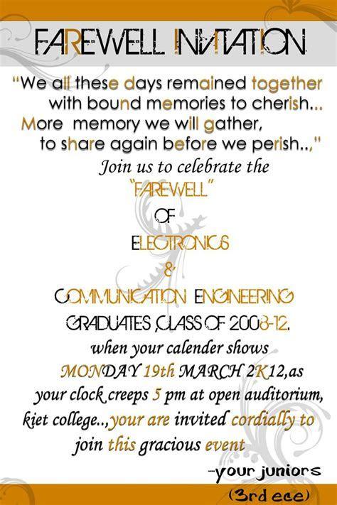 luncheon invitation wording just b cause   farewell