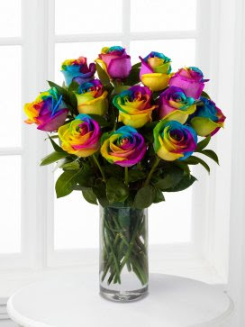 Rainbow Roses Vase Lockwoods Of Tickhill