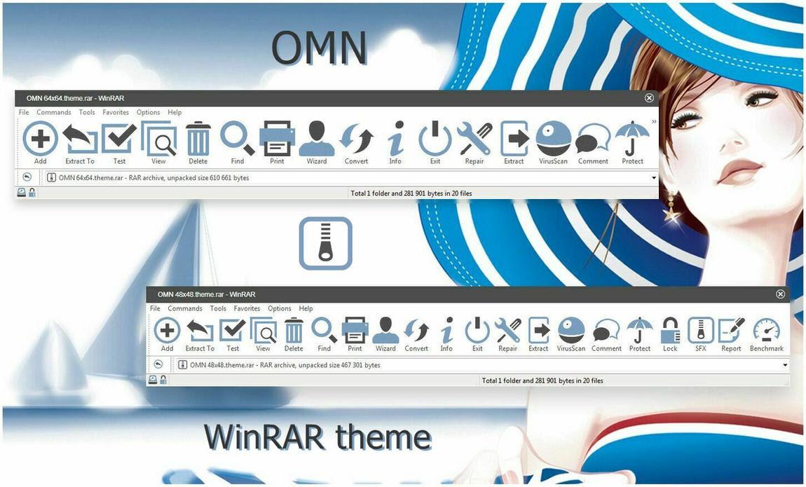 OMN WinRAR theme by alexgal23