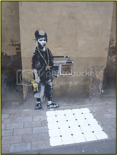 Banksy HipHop Kid