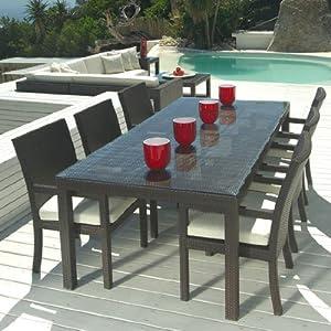 Amazon.com : Outdoor Wicker Patio Furniture New Resin 7 Pc ...