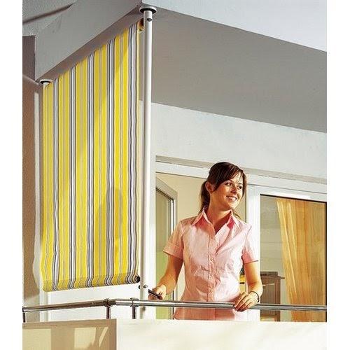 seitenmarkise balkonsichtschutz 100 polyethylen f r. Black Bedroom Furniture Sets. Home Design Ideas
