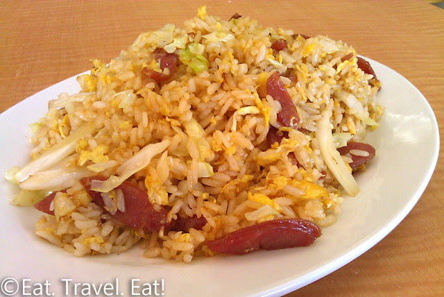 May's Cafe- Arcadia, CA: Chinese Sausage Fried rice
