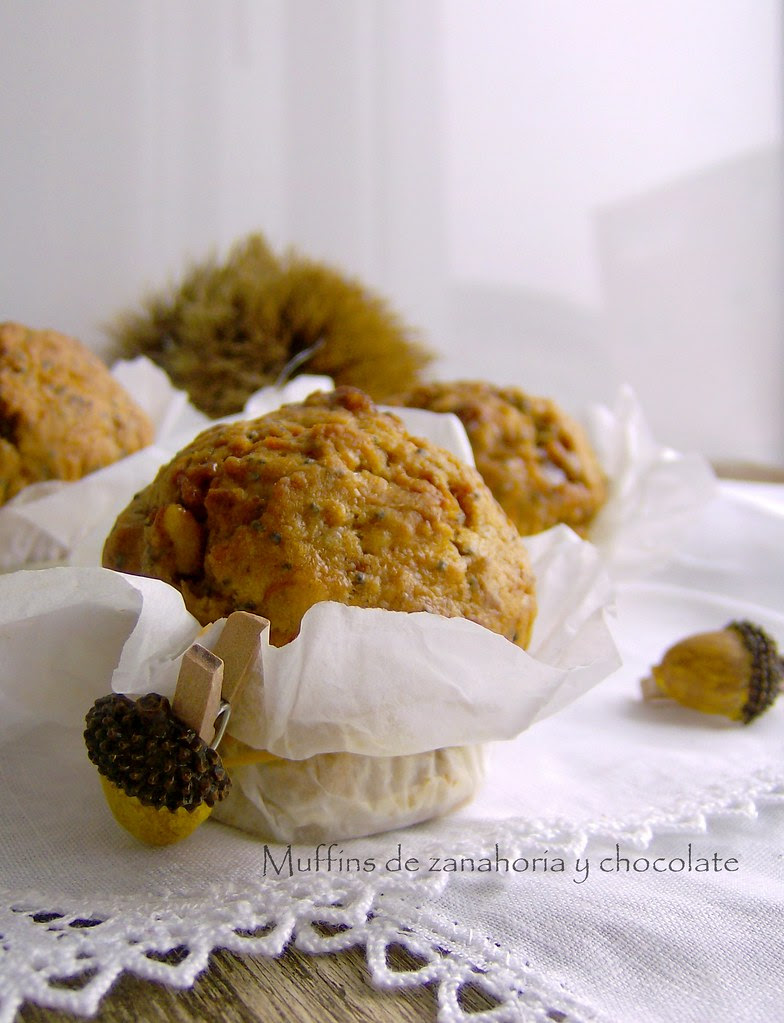 Muffins de zanahoria y chocolate