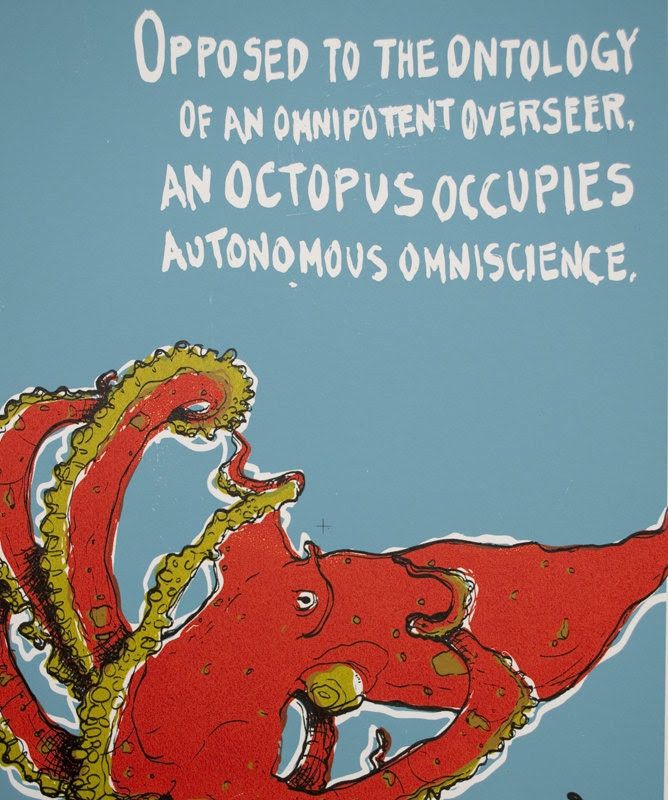 O is for Ontology - Hand-Pulled Octopus Print