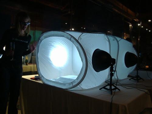 Krissy showcasing light box