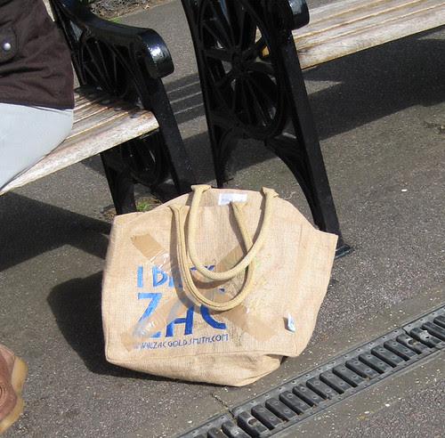 Zac Goldsmith Bag at Kew Gardens Station
