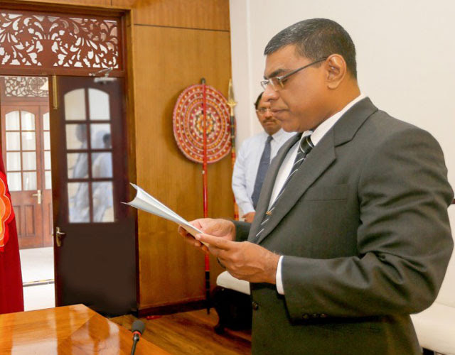 Justice Surasena takes oaths as President of Court of Appeal