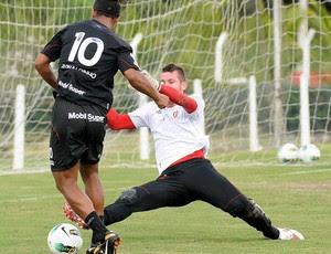 ronaldinho gaucho paulo victor flamento treino (Foto: Alexandre Vidal / Fla Imagem)