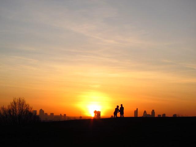 London Sunrise seem from Parliament Hill