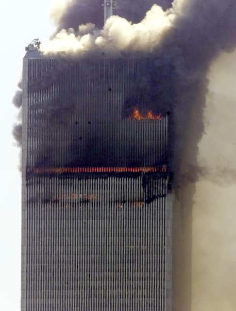 North Tower fires