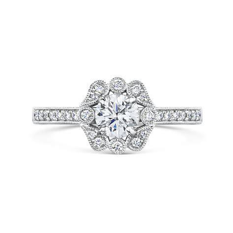 Vintage Raindance Diamond Engagement Ring