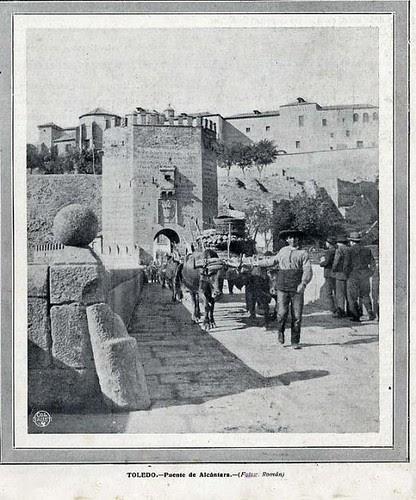 Puente de Alcántara en 1912, Toledo.