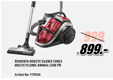 ROWENTA RO8370 SILENCE FORCE MULTICYCLONIC ANIMAL CARE PR 899TL