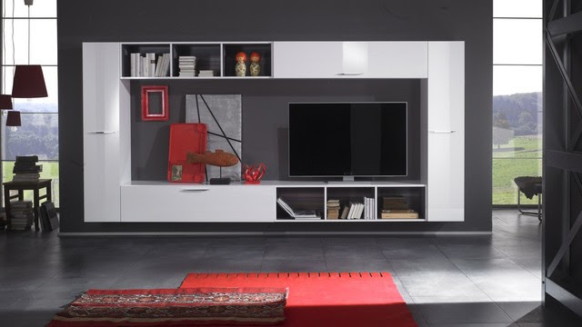 Modern Wall Unit TV Media Entertainment Center Club Composition 9 ...