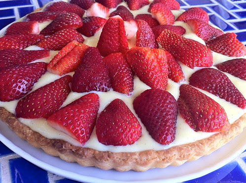 French Strawberry Tart Closeup