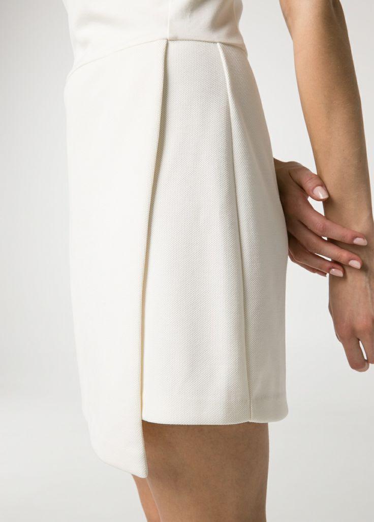 Minimal + Classic: Wrap skirt dress/ Mango