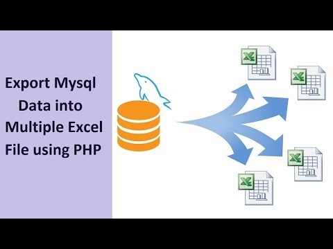 Exporting Data into Multiple Excel sheets in PHP | Webslesson