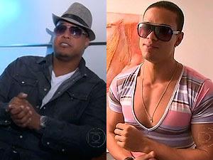 Cantores Robson Costa, vocalista da banda Black Style, e André Ramon, vocalista da LevaNóiz (Foto: Reprodução/TV Globo)