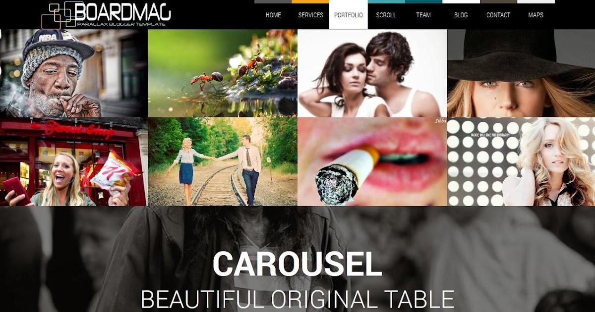 Boardmag Responsive Parallax Blogger Template | Blogger Templates ...