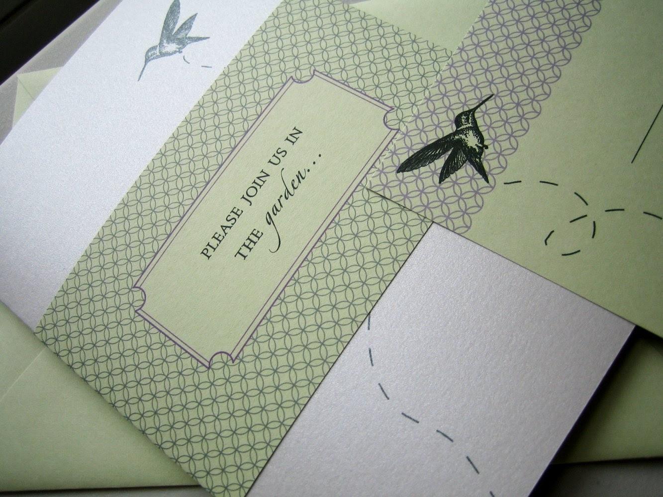hummingbird invitation