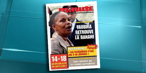 """Christiane Taubira comparée à un singe: """"Minute"""" devant la justice"""