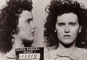 mugshot taken of Elizabeth Short