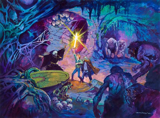 "Claudio Mazzoli - Warlock's Cove Movie Proposal Illustration for ""Children of Merlin"" Original Art (1984)"