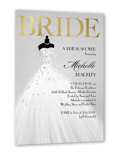 exquisite bride  bridal shower invitations shutterfly
