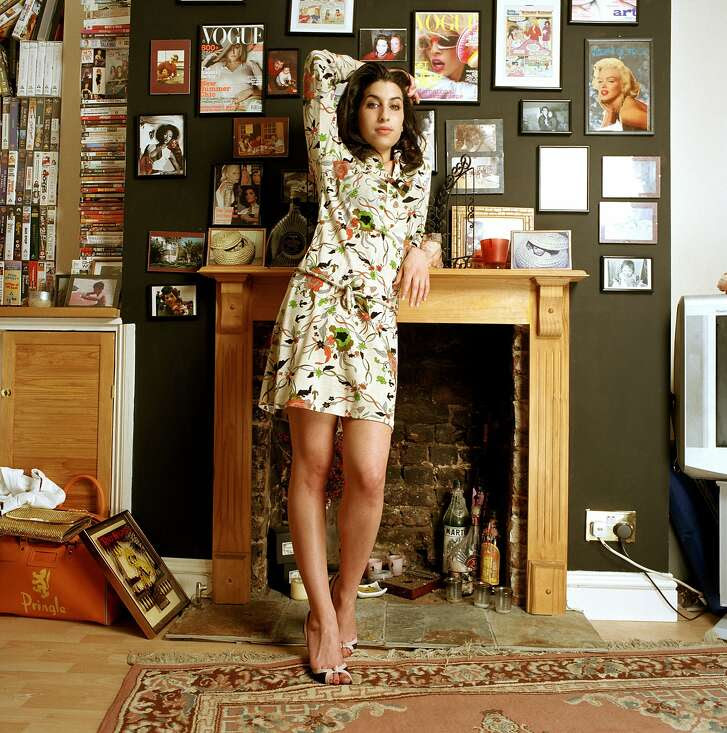 . Amy Winehouse: A Family Portrait. On view July 30–November 1, 2015. The Contemporary Jewish Museum, San Francisco.         D 32808-05  Amy Winehouse  Obligatory Credit - CAMERA PRESS/Mark Okoh SPECIAL PRICE APPLIES. Jazz and soul singer Amy Winehouse poses for photos at her home in Camden, London.  Her debut album 'Frank' won an  Ivor Novello award and was released in October 2003.     2004