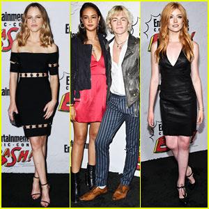 Halston Sage, Courtney Eaton, & Katherine McNamara Hit Up EW's Comic-Con 2017 Party!