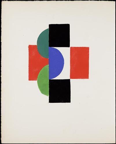 Untitled gouache (Illustration for Tristan Tzara's