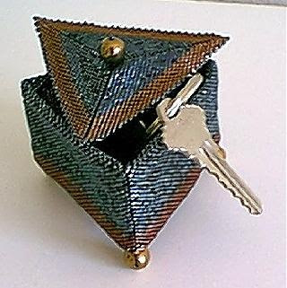 Triangle box with keys.