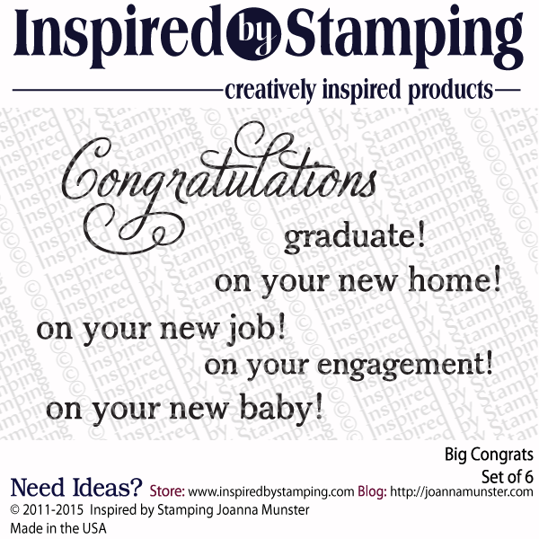Inspired by Stamping Big Congrats stamp set