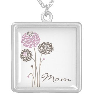 Mother's Day Necklace Mom Trendy Flowers zazzle_necklace