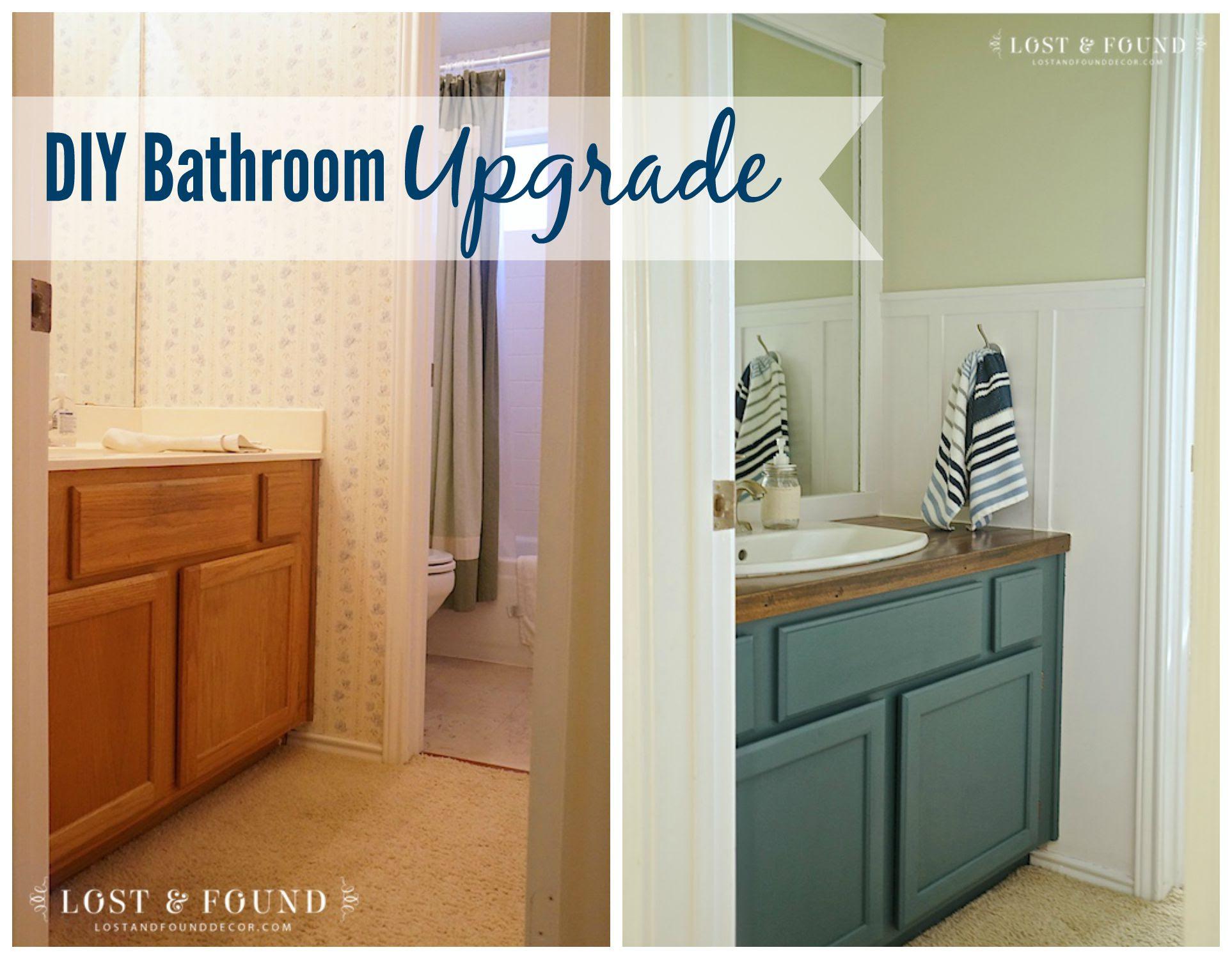 DIY Bathroom Upgrade Reveal | Lost & Found