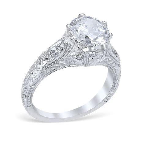 Vintage Style Venetian Crown Die Struck 1.50cttw Diamond